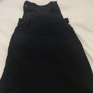 Black v neck pull over dress